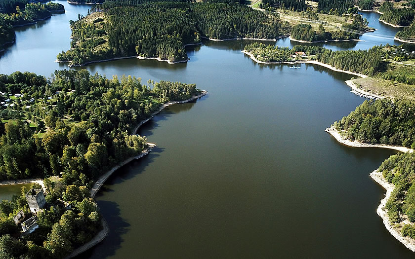The Ottenstein reservoir in Lower Austria