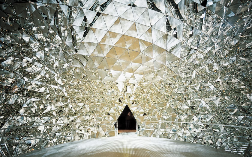 The crystal dome at the Swarovski Kristallwelten in Wattens