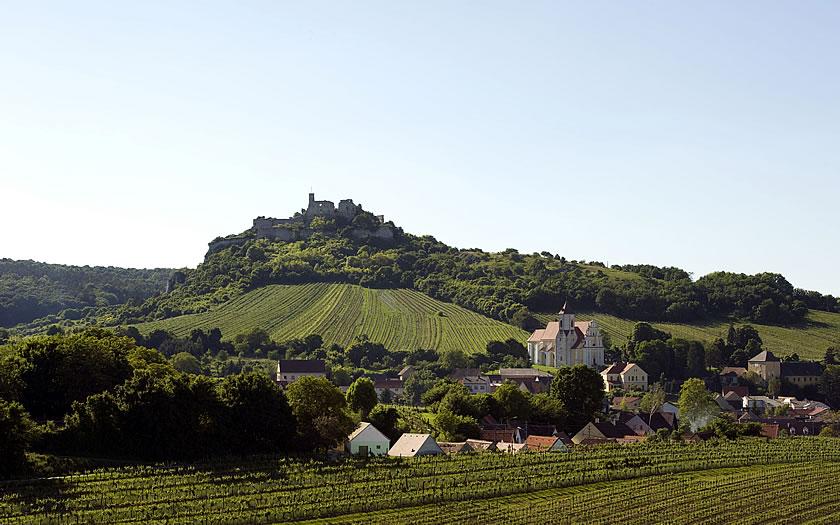 The village of Falkenstein in the Weinviertel