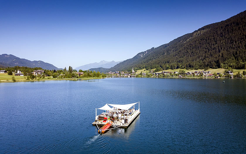 Rafting on the Weissensee